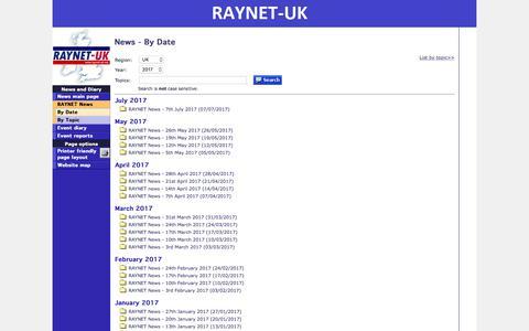 Screenshot of Press Page raynet-uk.net - RAYNET-UK   News and Diary - By Date - captured Oct. 19, 2017