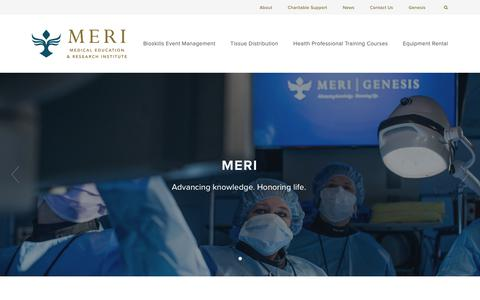 Screenshot of About Page meri.org - About — MERI - captured Oct. 17, 2018