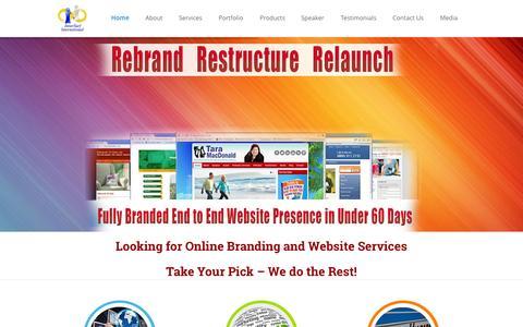 Screenshot of Home Page innersurf.com - innerSurf International - Internet Marketing - Social Media - SEO - Mobile Marketing Experts - captured Sept. 7, 2015