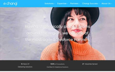 Screenshot of Home Page changiconsulting.com - Salesforce Dubai | Salesforce Partner in UAE | Changi - captured July 17, 2018