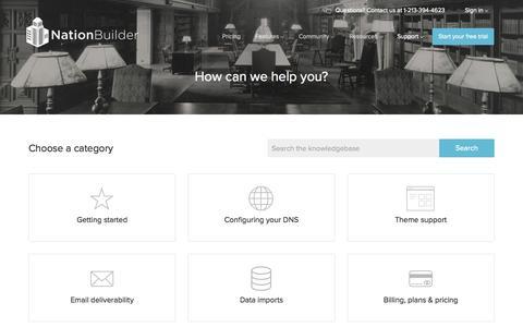 Screenshot of Support Page nationbuilder.com - NationBuilder Support - captured Nov. 3, 2015