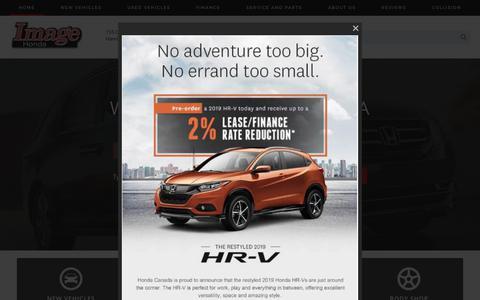 Screenshot of Home Page imagehonda.com - Image Honda: New & Used Honda Dealership   Hamilton, ON - captured Dec. 10, 2018
