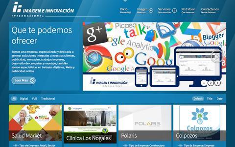 Screenshot of Home Page imageneinnovacion.com - Imagen e Innovación Internacional  - Imagen e Innovación Internacional - captured Sept. 11, 2015