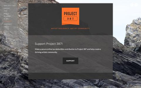 Screenshot of Support Page project387.com - Support — PROJECT 387 - captured July 17, 2016
