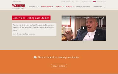 Screenshot of Case Studies Page warmup.co.uk - Underfloor Heating Case Studies | Warmup - captured July 13, 2017