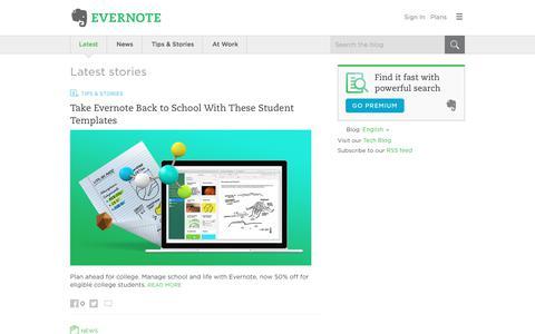 Screenshot of Blog evernote.com - Evernote Blog - Remember Everything. - captured Aug. 3, 2017