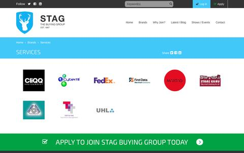 Screenshot of Services Page stagbuyinggroup.com - Services | Stag Buying Group - captured Nov. 18, 2016