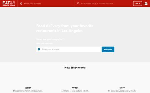 Los Angeles CA Food & Restaurant Delivery | Order Online | Eat24