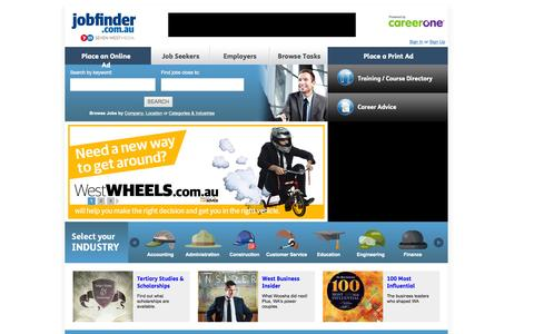 Screenshot of Home Page jobfinder.com.au - Find the Best Jobs. Identify the Best Candidates | JobFinder.com.au - captured Oct. 8, 2015