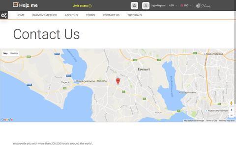 Screenshot of Contact Page hajz.me - Hajz.me - captured Sept. 18, 2016