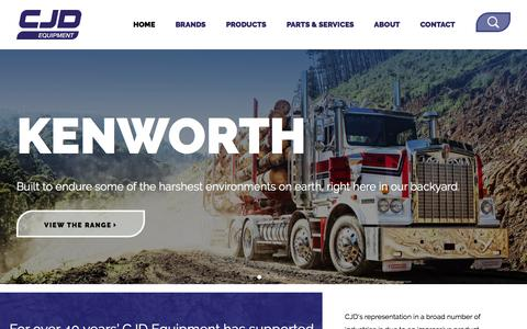 Screenshot of Home Page cjd.com.au - CJD - Construction Equipment & Truck Supplies AustraliaCJD Equipment - captured Oct. 6, 2016