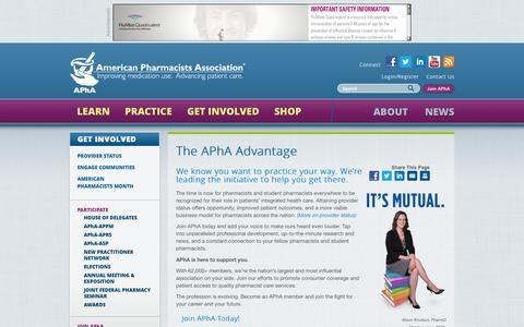Screenshot of Signup Page pharmacist.com - The APhA Advantage | American Pharmacists Association - captured Nov. 2, 2014