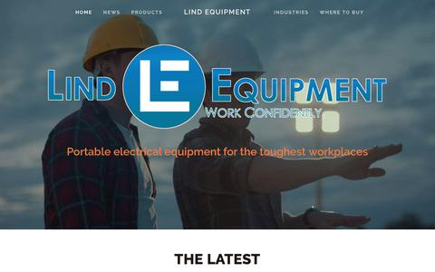 Screenshot of Home Page lindequipment.net - Lind Equipment - captured July 20, 2018