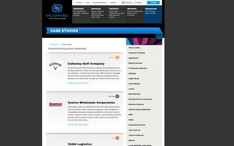 Screenshot of Case Studies Page spscommerce.com - Supply Chain Services: Case Studies | SPS Commerce - captured Sept. 12, 2014