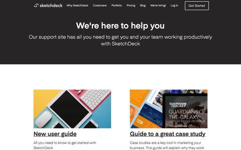 Screenshot of Support Page sketchdeck.com - SketchDeck Support - captured June 2, 2017