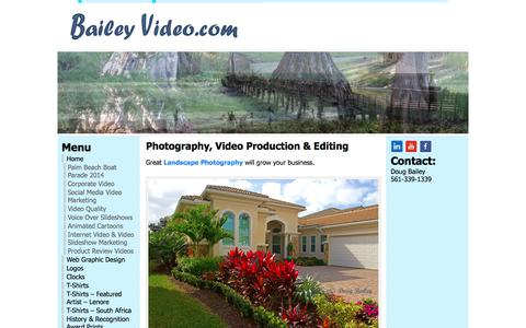 Screenshot of Home Page baileyvideo.com - Bailey Video - captured Sept. 23, 2018