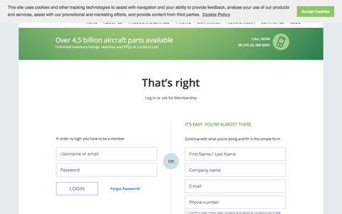 Screenshot of Signup Page locatory.com - Get started - captured Sept. 19, 2018