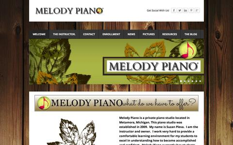 Screenshot of Home Page melodypiano.net - MELODY PIANO - Welcome to Melody Piano! - captured Jan. 9, 2016