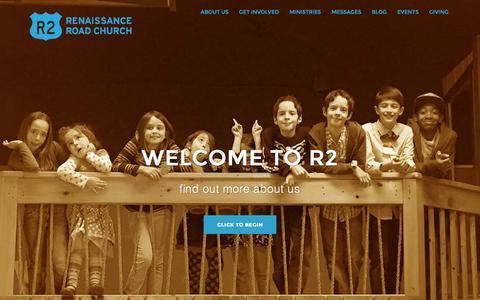 Screenshot of Home Page r2live.tv - Renaissance Road Church - captured Feb. 25, 2016