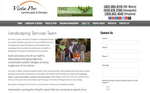 Screenshot of Team Page vistaprolandscape.com - Landscaping Company & Lawn Care in Baltimore, MD - captured Oct. 20, 2018