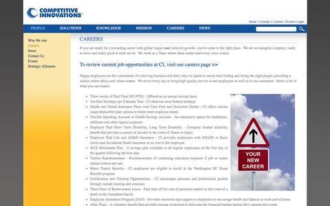 Screenshot of Jobs Page cillc.com - CILLC - Careers - captured Jan. 19, 2018