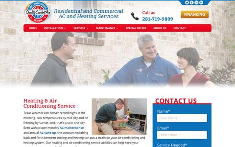 Screenshot of Services Page comfortairconditioningheat.com - Heating & Air Conditioning Service | Quality Comfort Air - captured Aug. 11, 2017