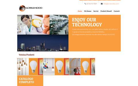 Screenshot of Home Page screendoo.com - Screendoo - captured Feb. 16, 2016