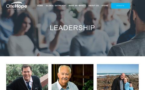 Screenshot of Team Page onehope.net - Leadership | OneHope - captured Sept. 21, 2018