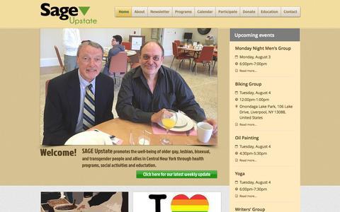 Screenshot of Contact Page sageupstate.org - sage-upstate - captured Aug. 2, 2015