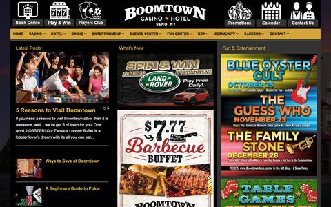 Screenshot of Blog boomtownreno.com - Boomtown Blog - Boomtown Casino Hotel - captured Oct. 6, 2018