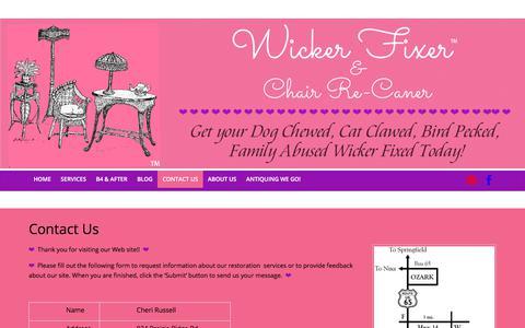 Screenshot of Contact Page wickerfixer.com - Contact Us | Wicker Fixer - captured Oct. 26, 2017