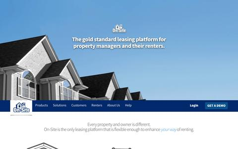 Screenshot of Home Page on-site.com - Property management software for screening, leasing & marketing. | On-Site - A flexible online leasing platform for property managers and their renters. - captured Dec. 1, 2015