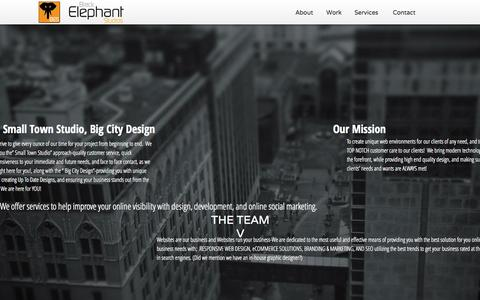 Screenshot of About Page Contact Page Services Page blackelephantstudios.com - Black Elephant Studios | Web-Mobile-SEO-Design - captured Sept. 30, 2014
