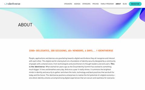 Screenshot of About Page identiverse.com - About Identiverse - captured Nov. 19, 2018