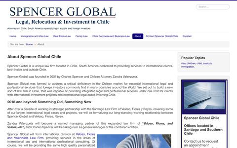 Screenshot of About Page spencerglobal.com - About - Spencer Global Chile - captured Oct. 20, 2018