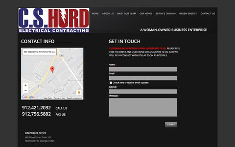 Screenshot of Privacy Page Contact Page cshurd.net - Cs Hurd Electrical Contracting : Contact - captured July 9, 2017