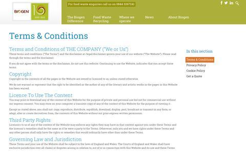 Screenshot of Terms Page biogen.co.uk - Terms & Conditions   Biogen UK - captured Feb. 7, 2016
