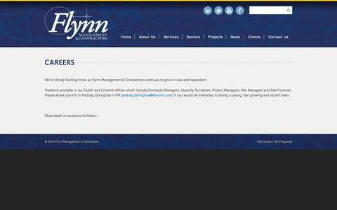 Screenshot of Jobs Page flynnmc.com - Careers | Flynn Management & Contractors - captured Feb. 10, 2016