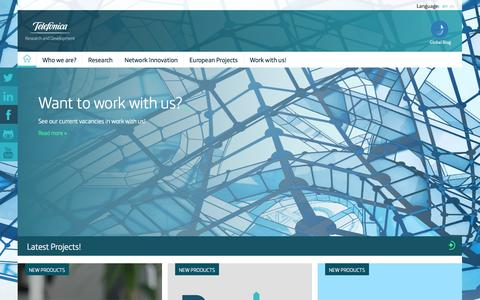 Screenshot of Home Page tid.es - Telefonica Research and Development - captured Jan. 26, 2015