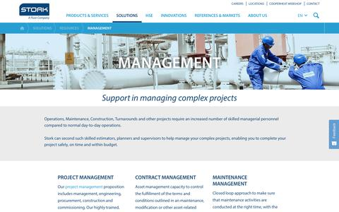 Screenshot of Team Page stork.com - Managing Complex Projects - Stork - captured Oct. 10, 2018