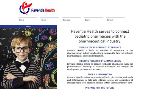 Screenshot of About Page paventiahealth.com - About - captured July 19, 2017