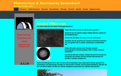 Screenshot of Home Page sternwarte-sessenbach.de - Meine Homepage - Home - captured June 6, 2018