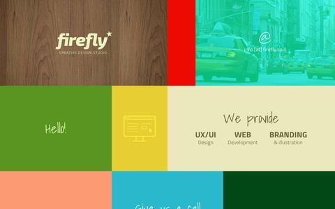 Screenshot of Home Page firefly.co.il - FIREFLY - creative design studio | UX/UI Design | Website Development | Ran Shenberger | פיירפליי - סטודיו לעיצוב  | רן שנברגר | - captured Aug. 11, 2018