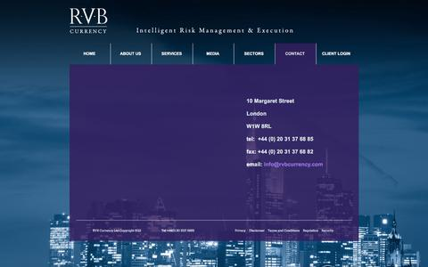Screenshot of Contact Page rvbcurrency.com - RVB Currency – Contact - captured Feb. 15, 2016