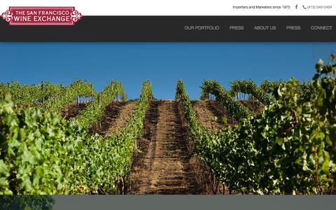Screenshot of Home Page sfwe.com - Home Page - San Francisco Wine Exchange - captured Feb. 15, 2016