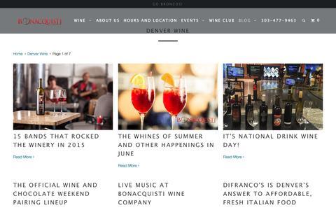 Screenshot of Blog bonacquistiwine.com - Denver Wine - Bonacquisti Wine Company - captured Feb. 7, 2016