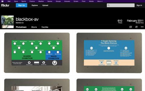 Screenshot of Flickr Page flickr.com - Flickr: blackbox-av's Photostream - captured Oct. 23, 2014