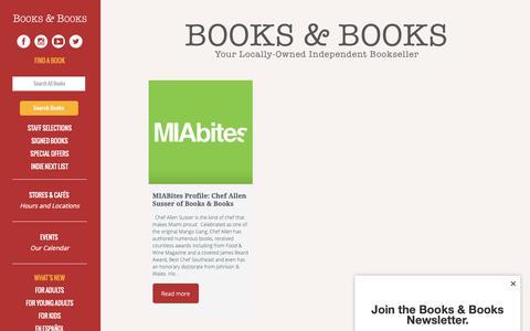 Screenshot of Press Page booksandbooks.com - Books & Books   Press   Books & Books - captured Oct. 6, 2018