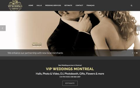 Screenshot of Home Page weddings-montreal.ca - VIP Weddings Montreal Best wedding services - captured Jan. 28, 2017