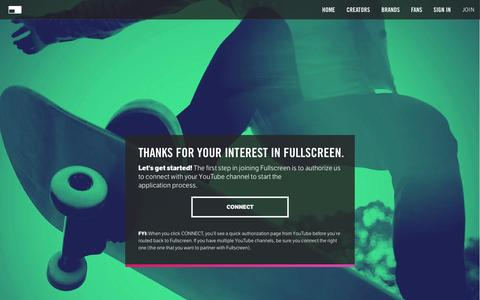 Screenshot of Signup Page fullscreen.com - Apply - Fullscreen - captured Oct. 20, 2015